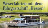 """Weser-Schiffsfahrten mit dem Fahrgastschiff """"Hessen"""""""